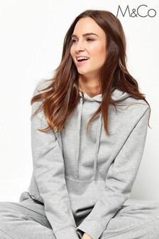 M&Co Grey Drawstring Hoodie
