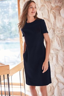 Navy Tailored Dress