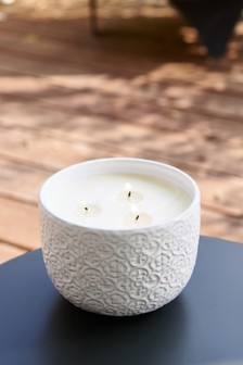 Guava and Lychee Outdoor Candle With Citronella