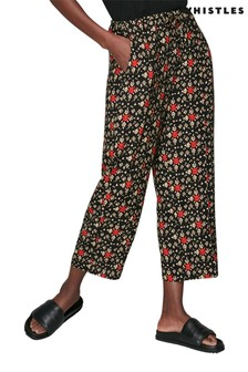 Whistles Black Printed Trousers