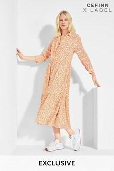 Mix/Cefinn Dot Print Dress