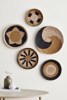 Set of 5 Woven Hanging Bowls