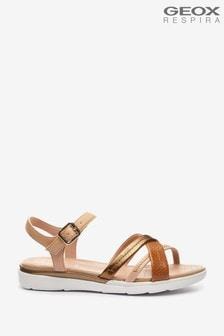 Geox Womens Hiver Sand/Light Bronze Sandals