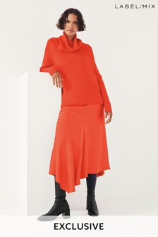 Mix/Marques Almeida Red Cowl Neck Knit