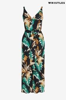 Whistles Tropical Floral Jumpsuit