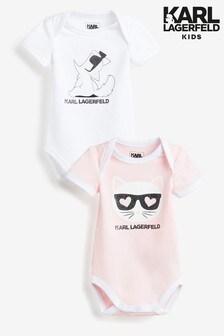 Karl Lagerfeld Kids Bodysuits Two Pack