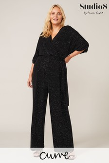 Studio 8 Black Multi Crystal Sparkle Jumpsuit