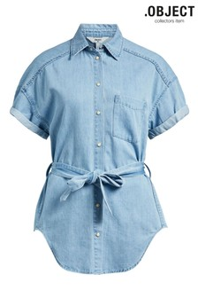 OBJECT Lightweight Blue Wash Denim Aubrey Shirt