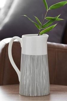 Striped Ceramic Jug