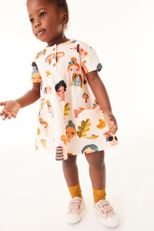 Peach Faces Organic Cotton Dress (3mths-7yrs)