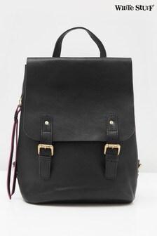 White Stuff Black Harley Leather Backpack