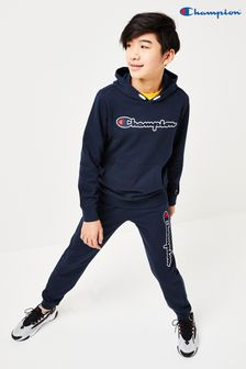 Champion Rib Cuff Joggers With Vertical Large Script Logo
