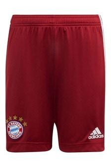 adidas Bayern Munich 21/22 Home Kids Football Shorts