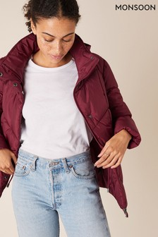 Monsoon Red Elizabeth Sustainable Quilted Jacket