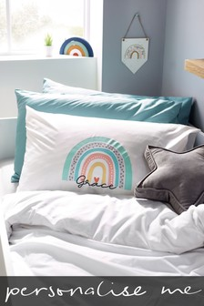 Personalised Rainbow Pillowcase