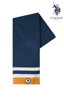 U.S. Polo Assn. Blue Tipping Scarf