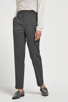 Charcoal Tailored Taper Trousers