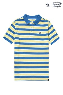 Original Penguin® Blue Plaited Stripe Polo
