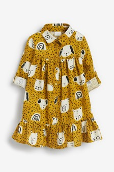 Ochre Organic Cotton Printed Shirt Dress (3mths-7yrs)