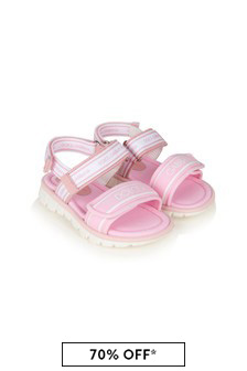 Dolce & Gabbana Baby Girls Pink Leather Sandals
