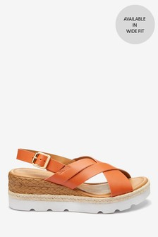 Orange Sports Cross-Over Wedges