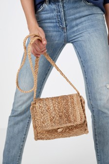 Natural Jute Across Body Bag