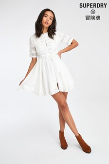 Superdry White Lace Dress