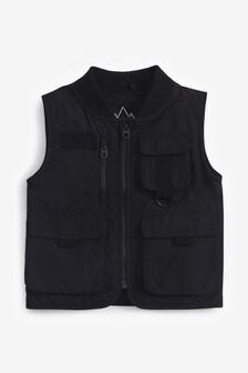 Black Utility Vest (3-16yrs)