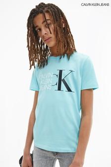Calvin Klein Jeans Blue Hybrid Logo Fitted T-Shirt