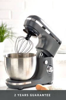 Grey and Chrome Stand Mixer