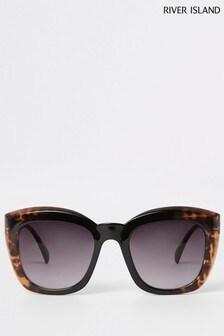 River Island Tortoiseshell Effect Sunglasses
