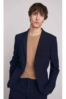 Navy Skinny Fit Motionflex Suit: Jacket