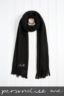 Personalised Black Tassel Scarf