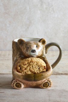 Bear Mug With Biscuit Holder