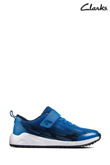 Clarks Navy/Blue Aeon Pace KIds Trainers