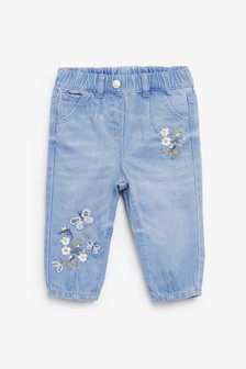 Denim Bright Blue Butterfly Pull-On Jeans (3mths-7yrs)