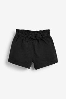 Black Bow Detail Shorts (3mths-7yrs)