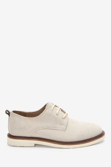 Stone Suede Lace-Up Shoes