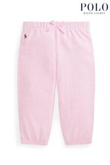 Ralph Lauren Pink Logo Cotton Trousers