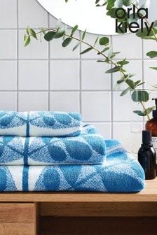 Orla Kiely Blue Botanica Stem Towel