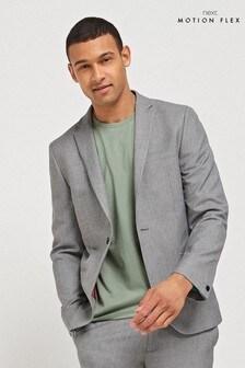 Light Grey Jacket Motion Flex Slim Fit Suit