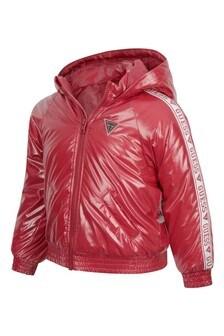 Girls Fuchsia Pink Hooded Jacket