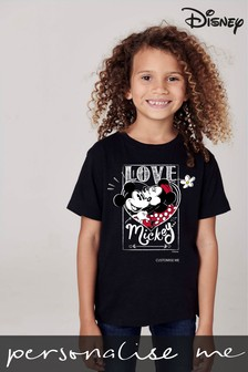 Personalised Disney™ Mickey Mouse™ Love T-Shirt