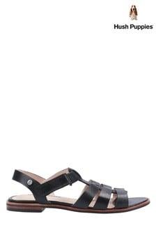 Hush Puppies Black Laila Gladiator Sandals