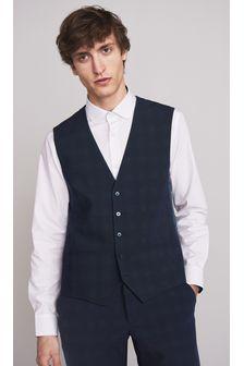 Navy Motionflex Suit: Waistcoat