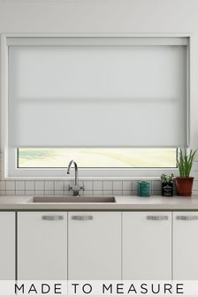 Star Limestone Grey Made To Measure Light Filtering Roller Blind