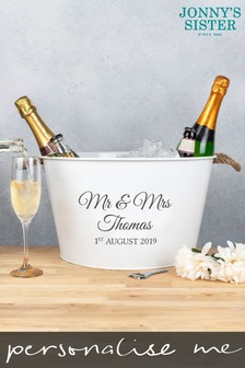 Personalised Wedding Wine Cooler by Jonny's Sister