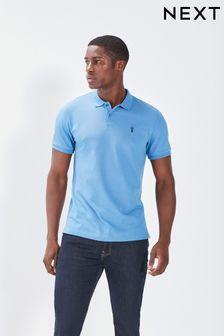 Cornflower Blue Regular Fit Pique Polo Shirt