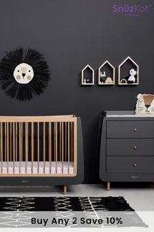 Slate Natural SnuzKot Skandi 2 Piece Nursery Furniture Set