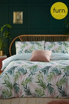 Bali Palm Duvet Cover and Pillowcase Set by Furn